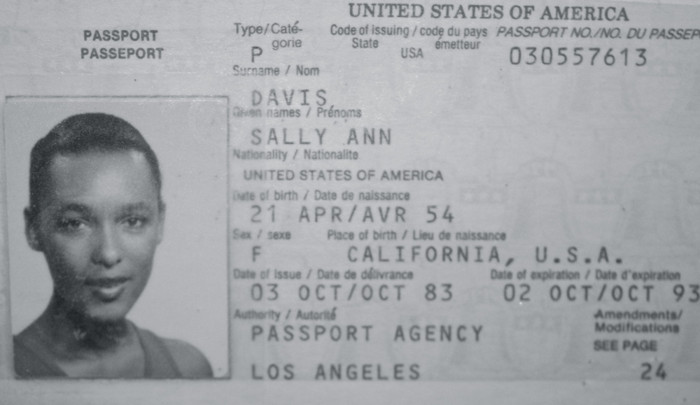 My aunt's first or possibly second passport.