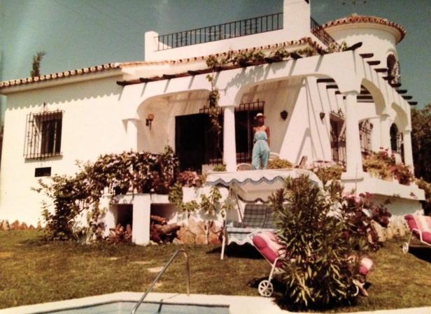 My aunt in Spain in the eighties.