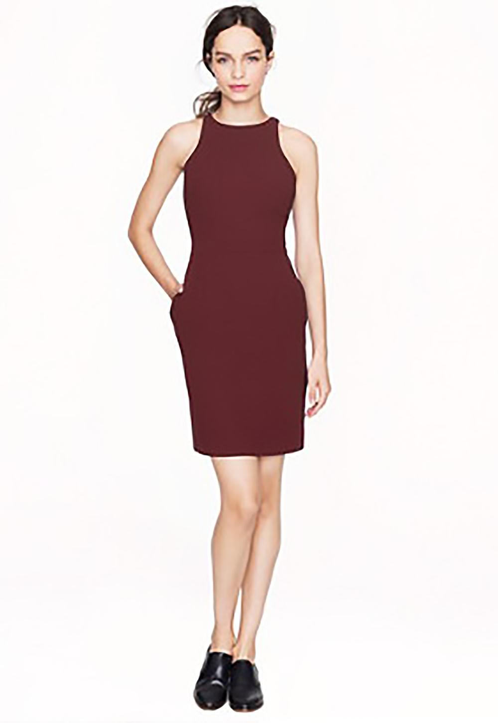 jcrew cutaway creepe dress cabernet short dresses 1500.jpg