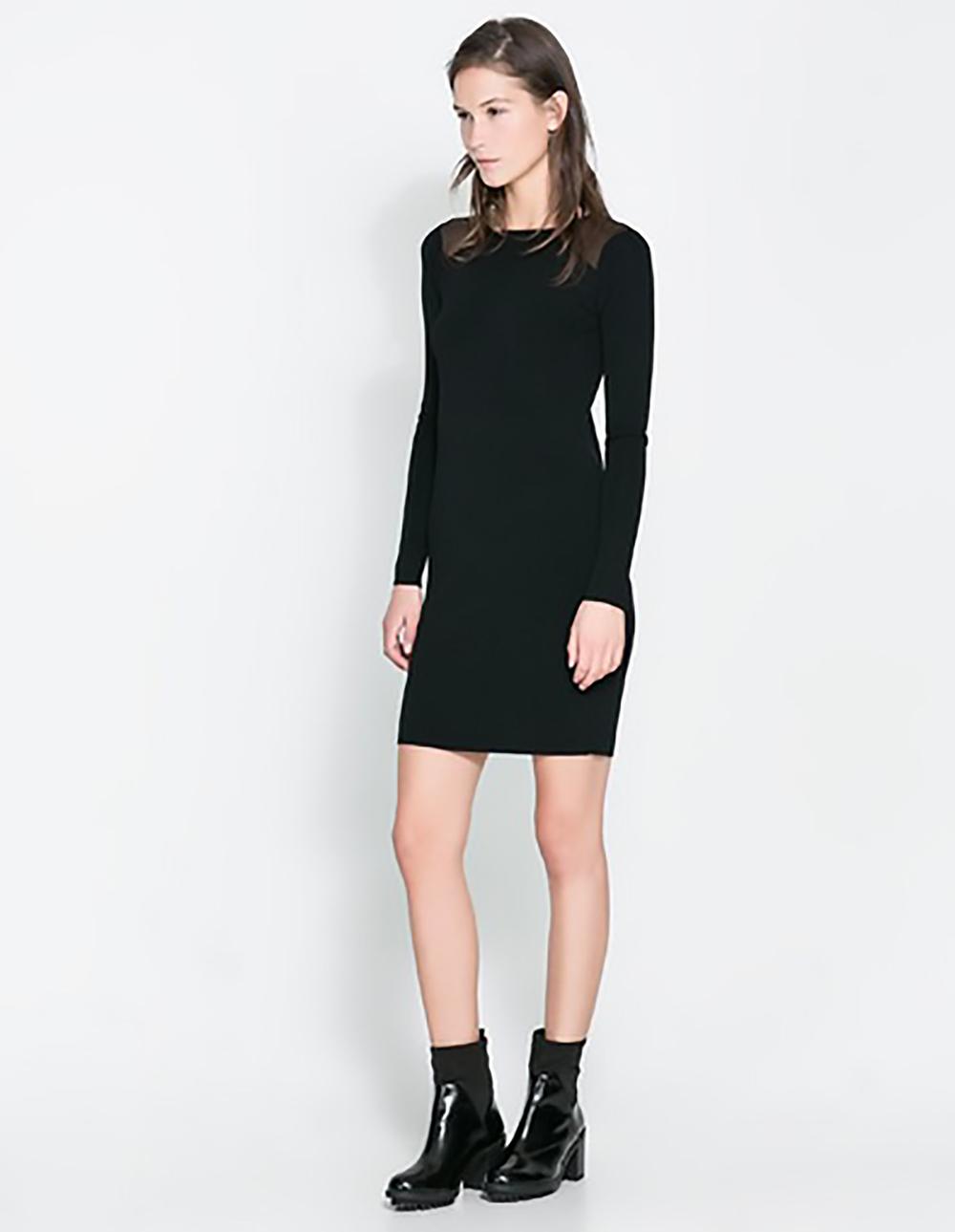 zara dress with sheer shoulders short dresses 1500.jpg