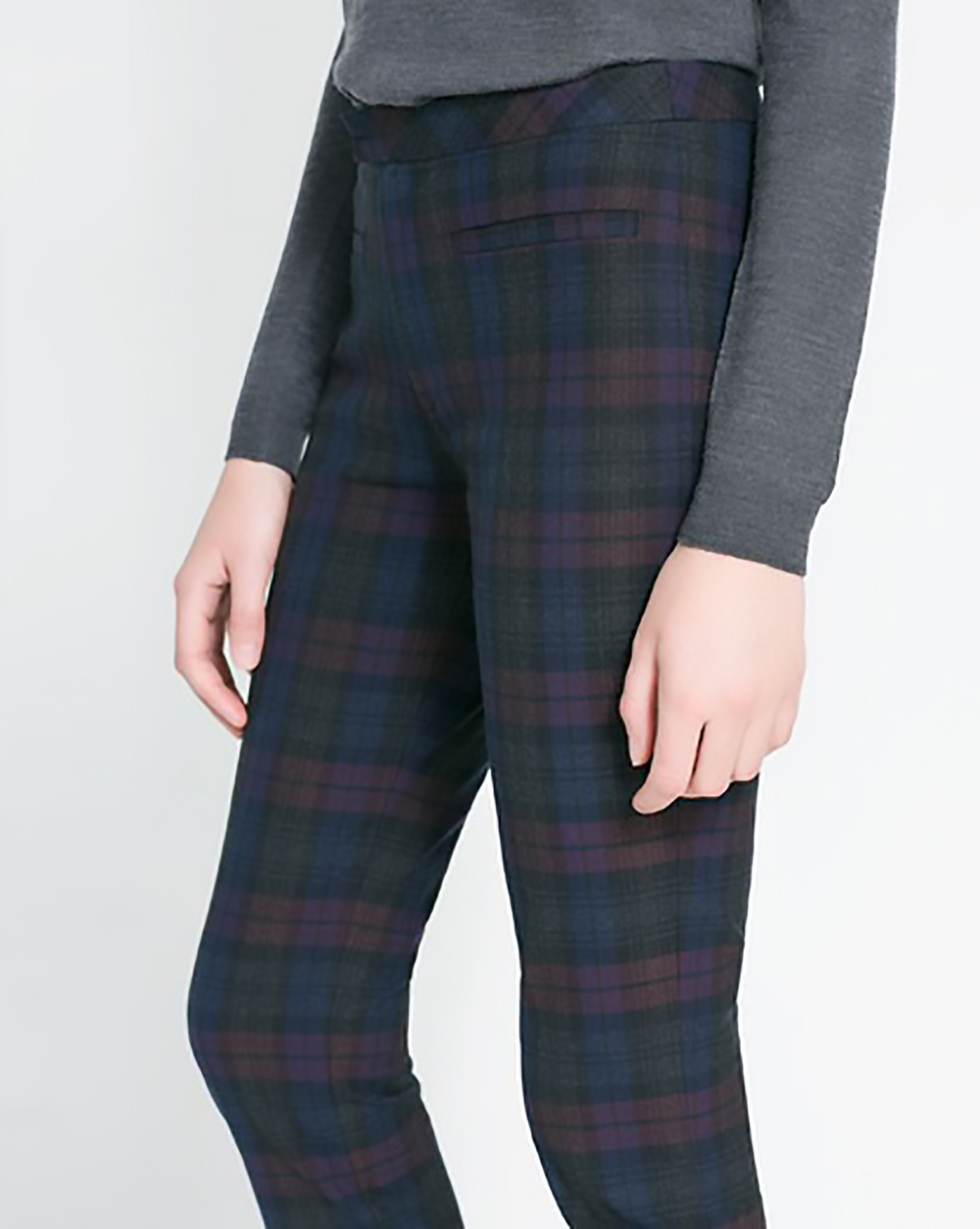 zara checked legging style trousers mad for plaid 1500.jpg