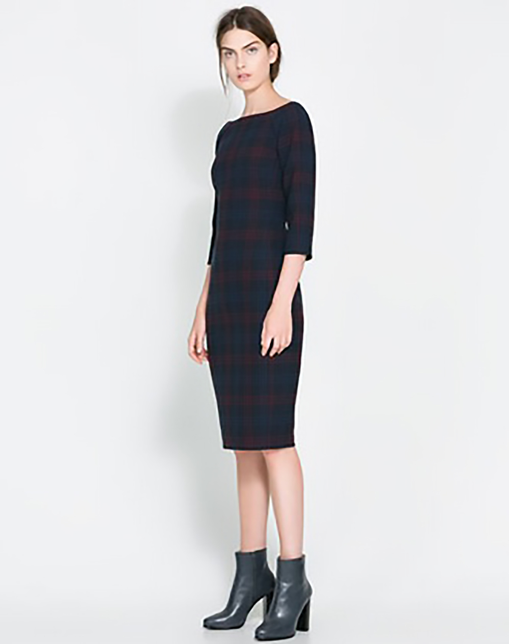 zara fitted checked dress holiday party 1500.jpg