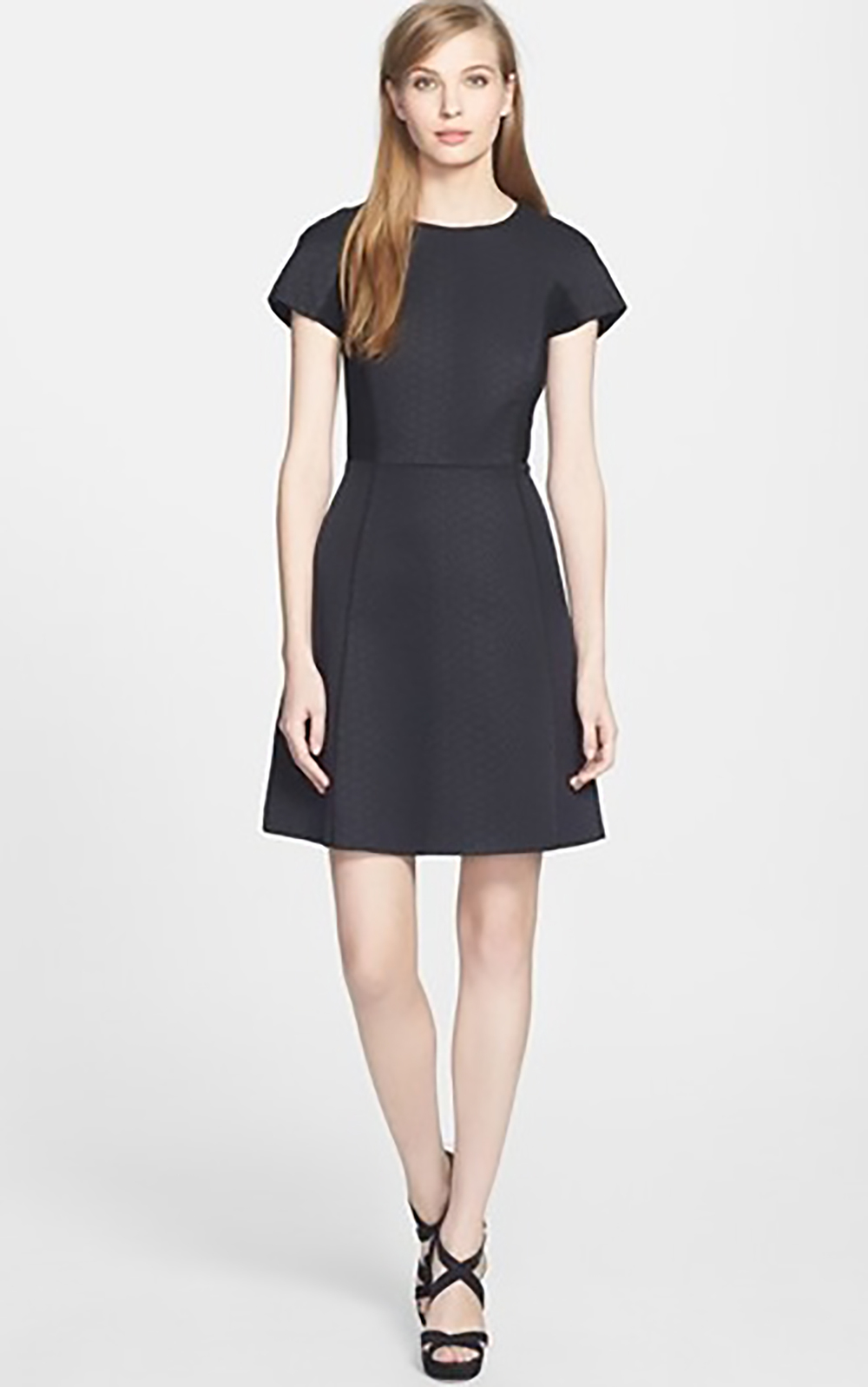 nordstrom rebecca taylor snake jacquard fit and flare dress holiday party 1500.jpg