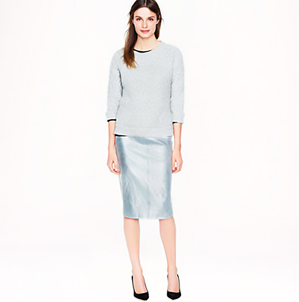 jcrew collection metallic leather pencil skirt holiday party 1500.jpg