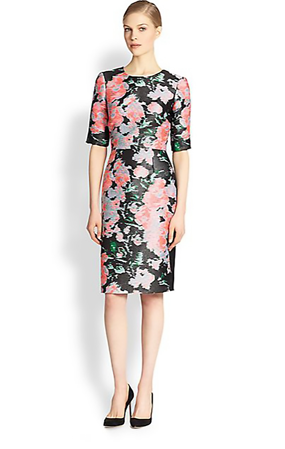 saks fifth avenue erdem floral jacquard dress winter florals 1500.jpg