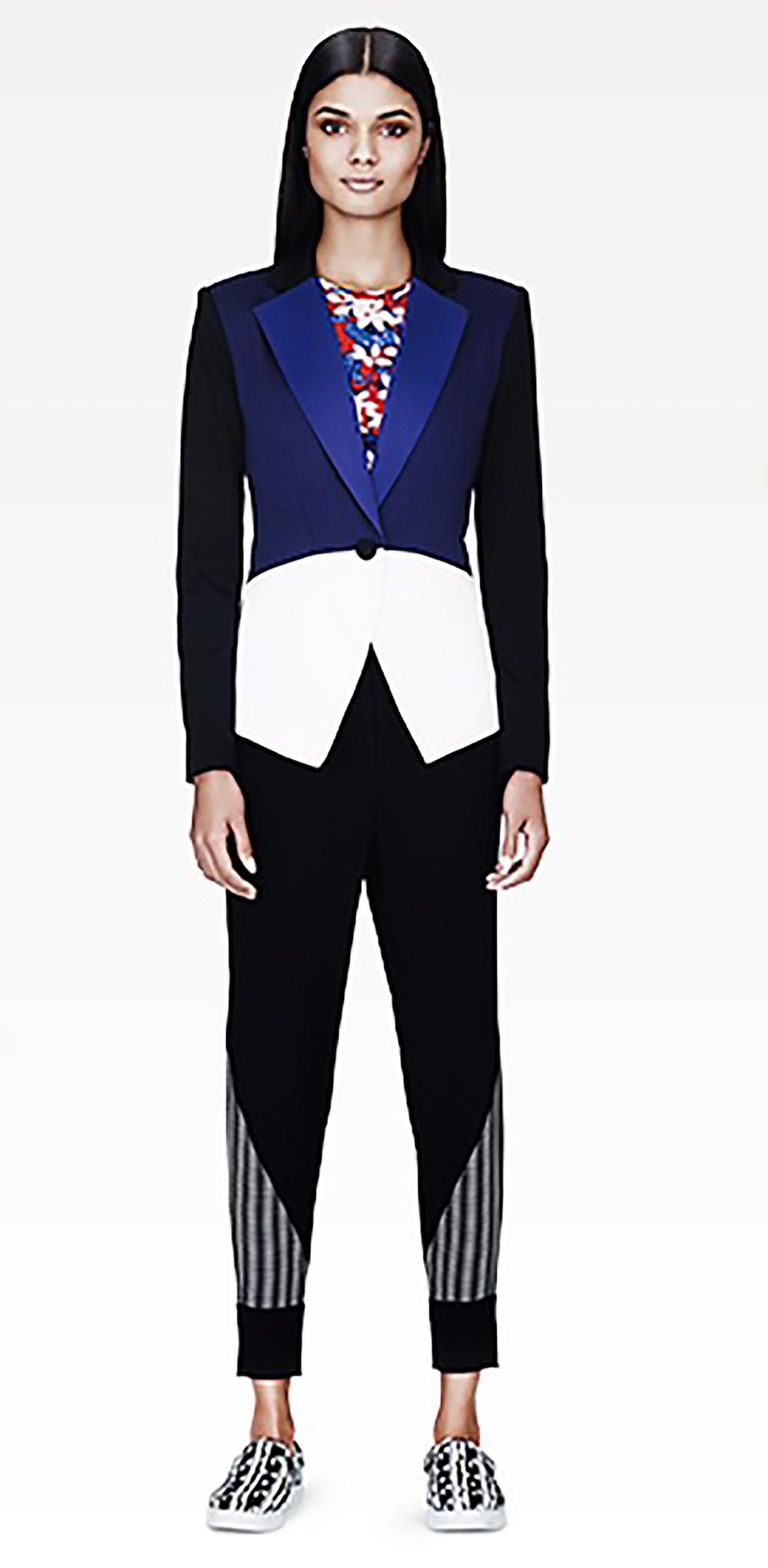 target.com peter pilotto blazer in blue-black-white colorblock 1500.jpg
