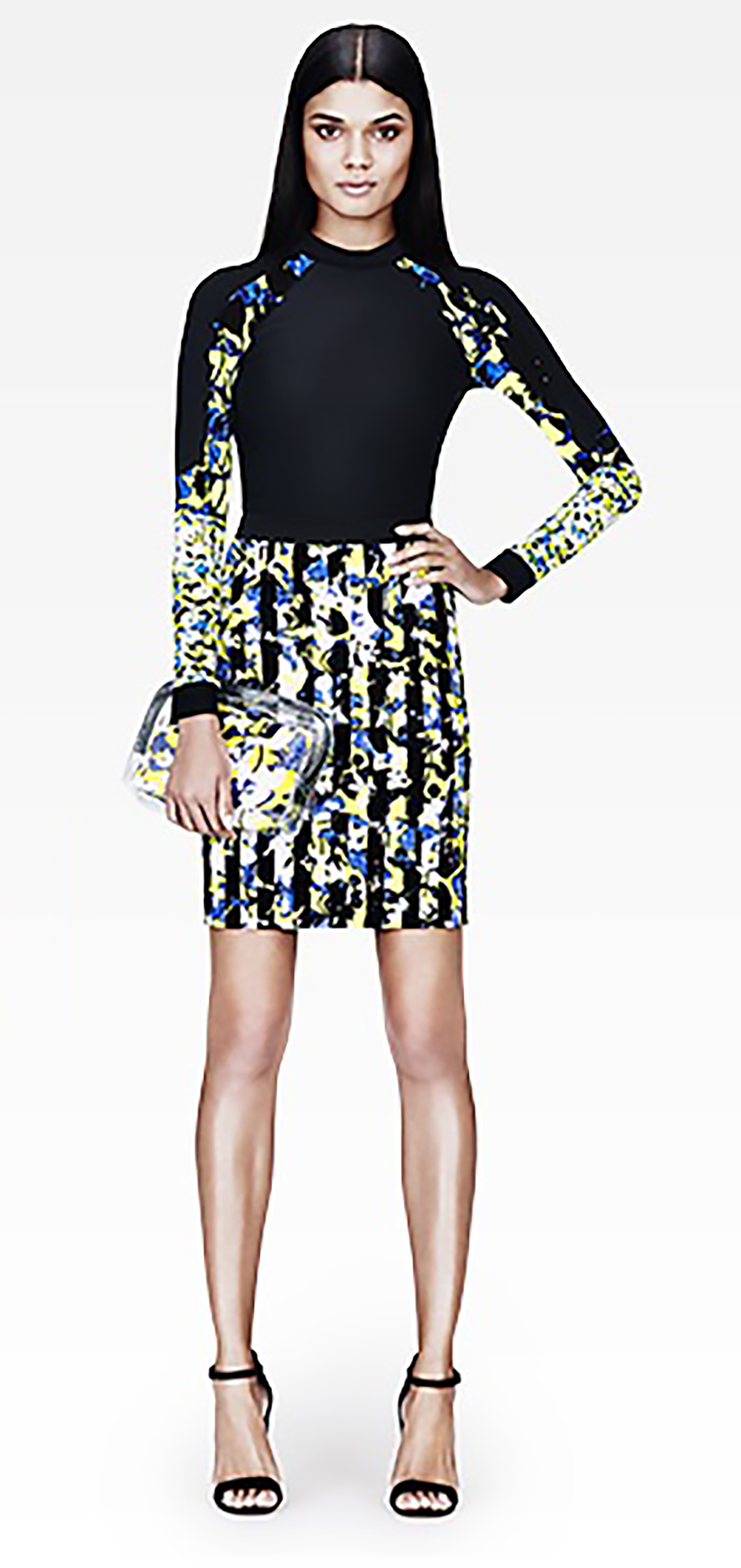 target.com peter pilotto pencil skirt in green floral stripe 1500.jpg