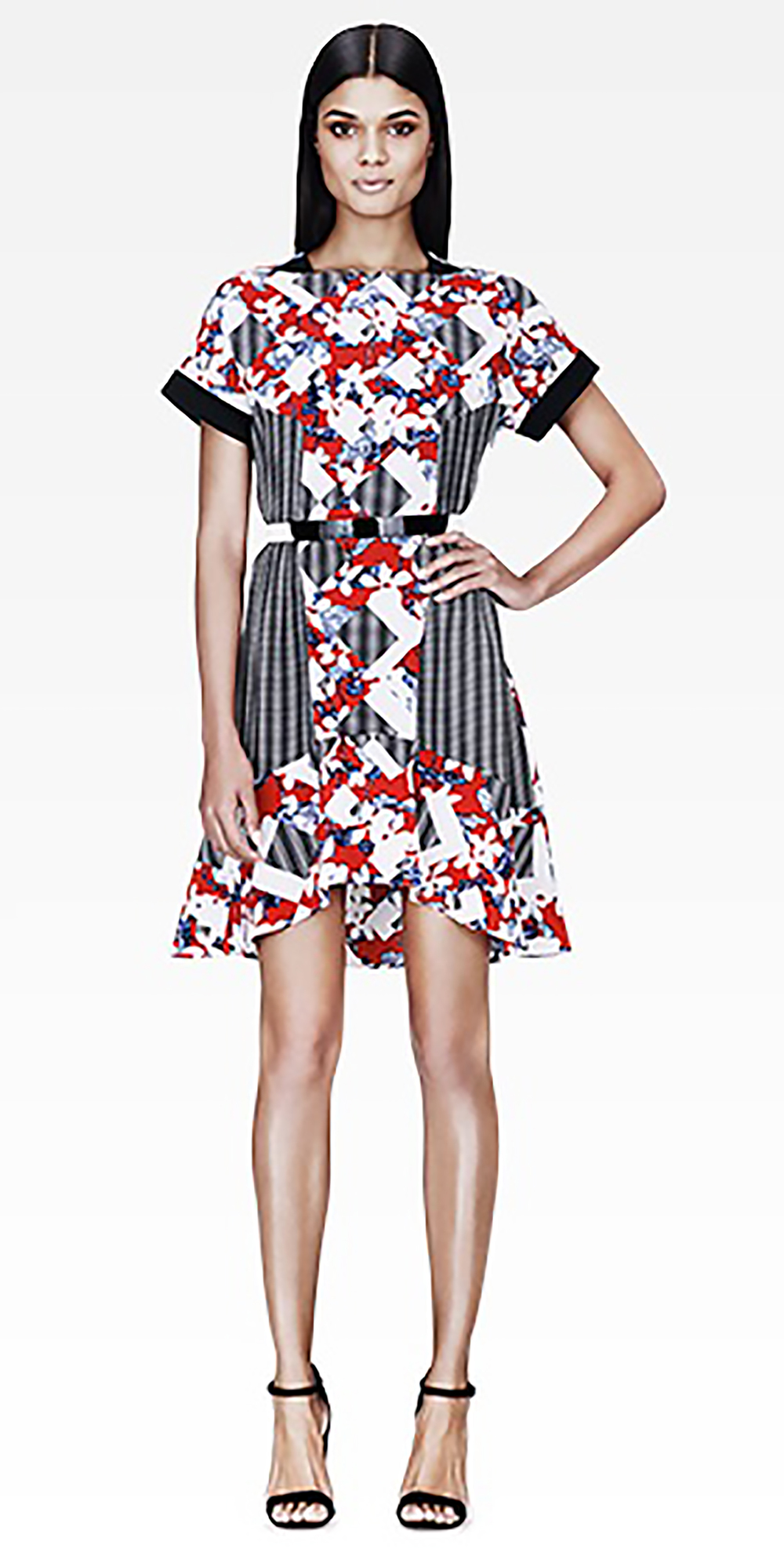 target.com peter pilotto belted dress in red floral-check print 1500.jpg