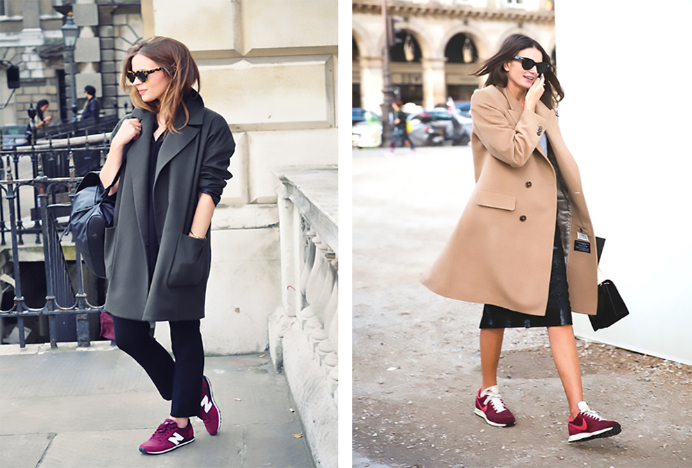 the work look � wearing sneakers trainers to get to work