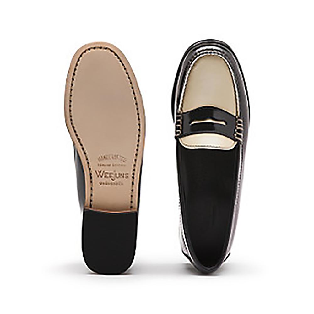 ghbass 2 tone weejuns black loafers 1500.jpg