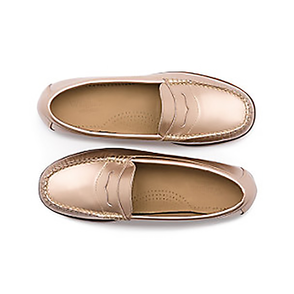 ghbass metallic weejuns rose gold loafers 1500.jpg