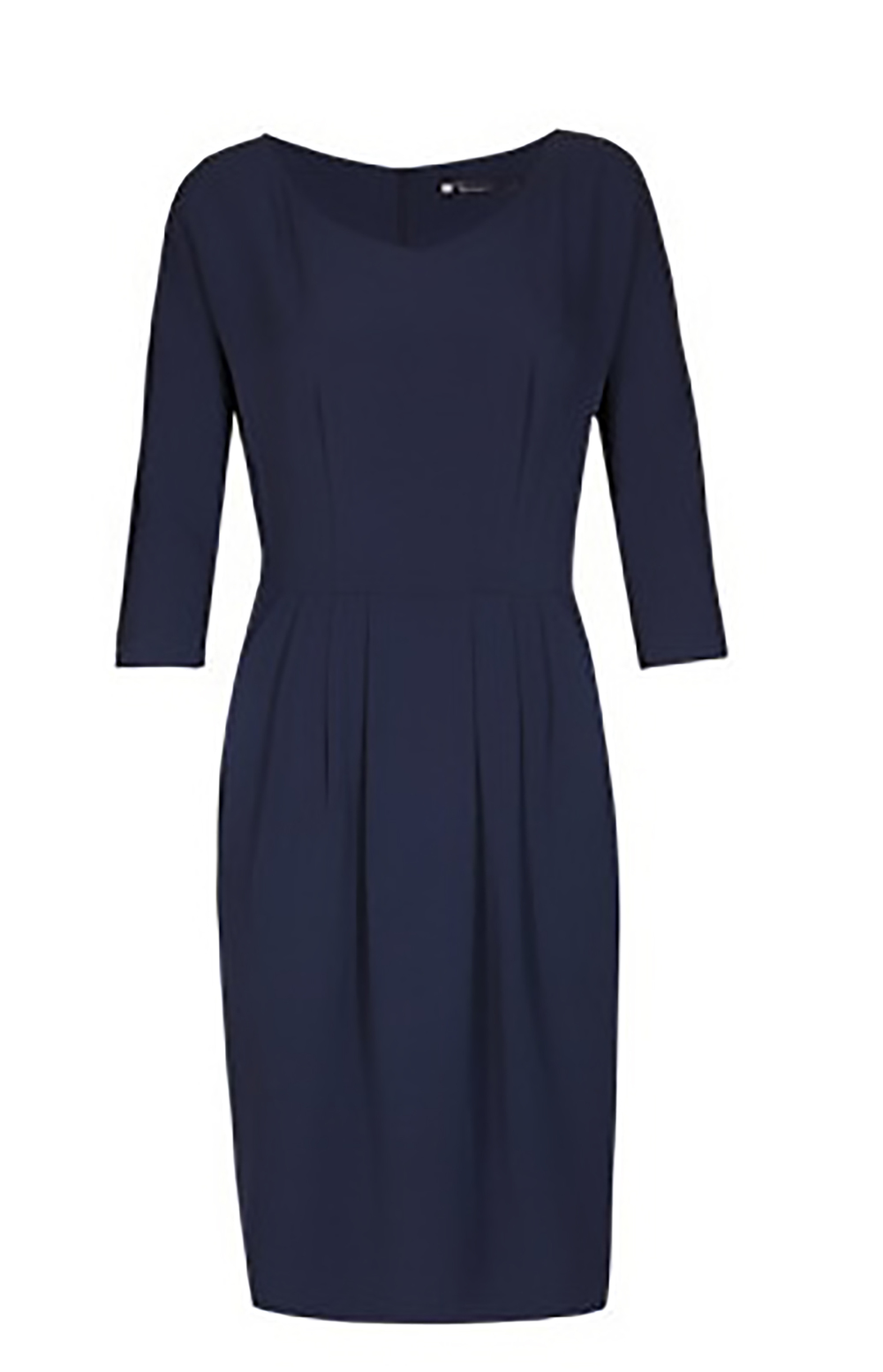 M&S best of british pleated drape dress M&S 1500.jpg