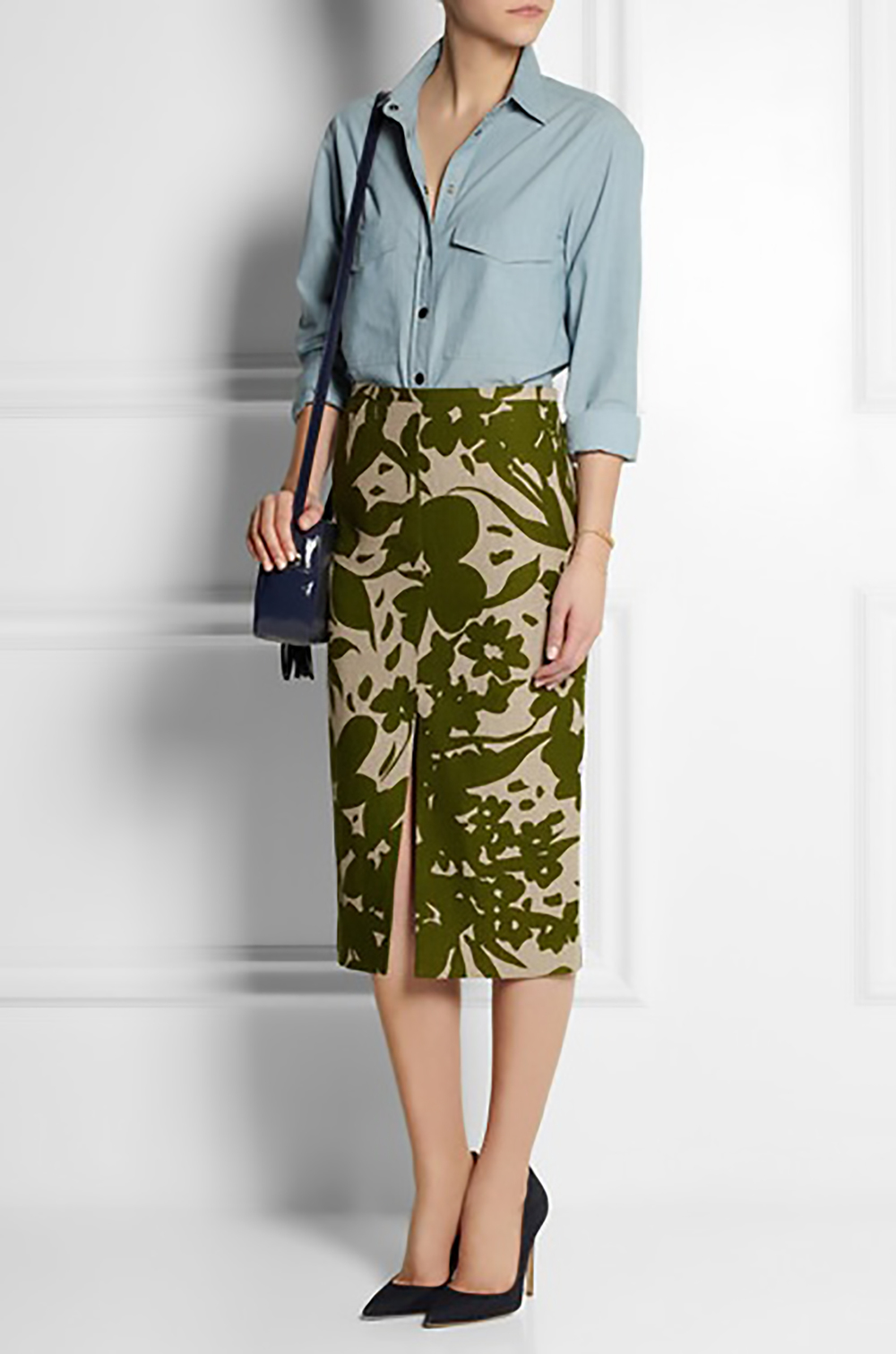 net a porter michael kors printed linen pencil skirt midis 1500.jpg