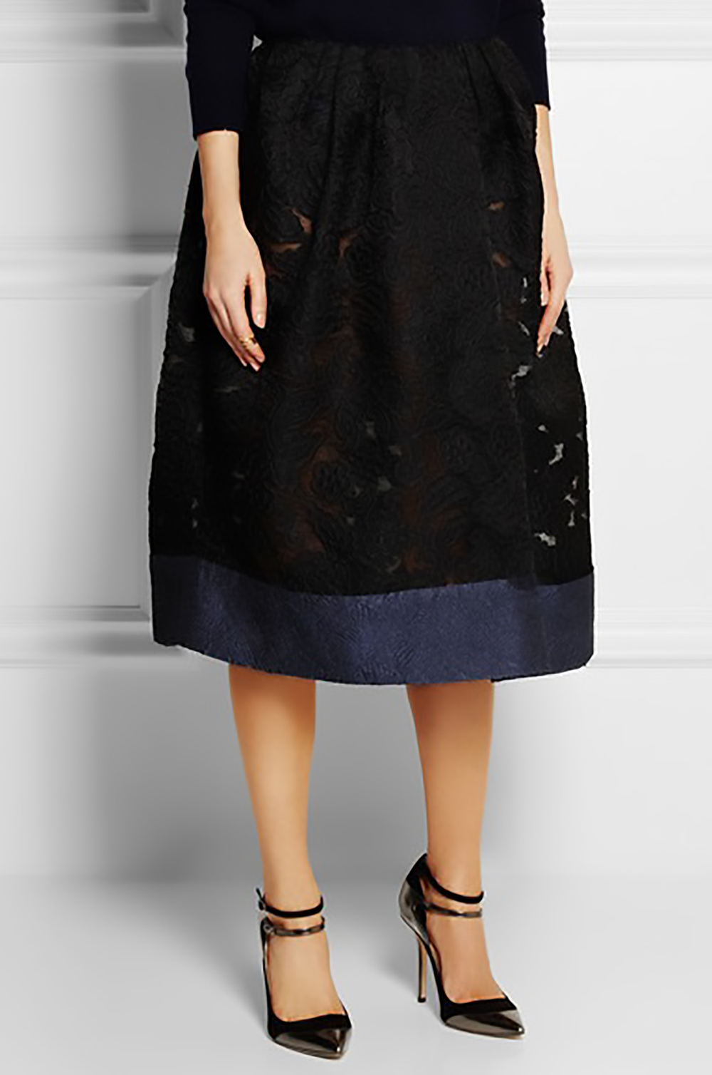 net a porter michael van der ham gauze, brocade and cloque midi skirt midis 1500.jpg