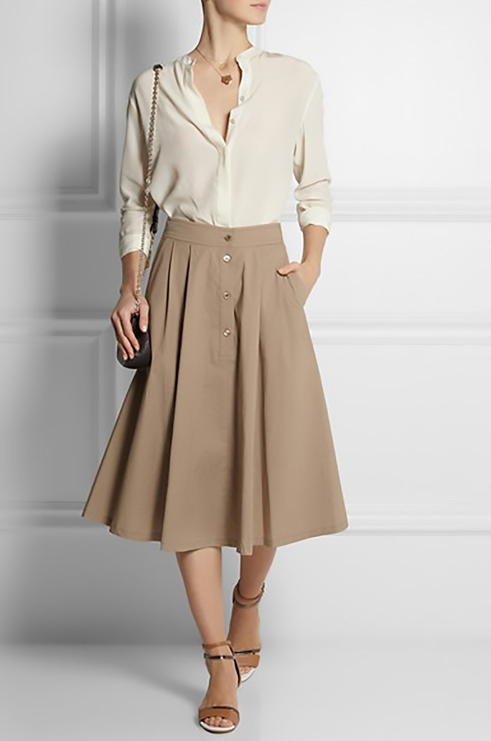 The Work Look — Midi skirts at work