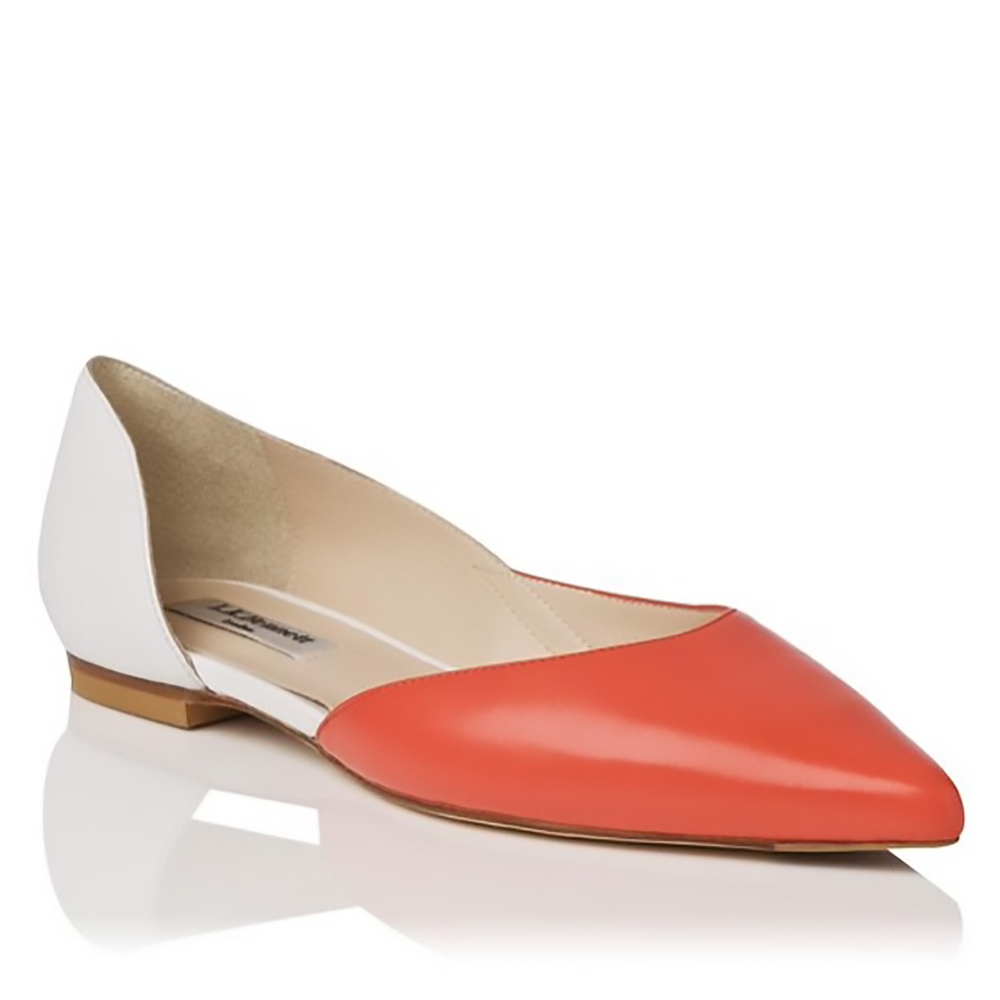 LK Bennet Hope leather colour block point toe flat pointy toes 1500.jpg