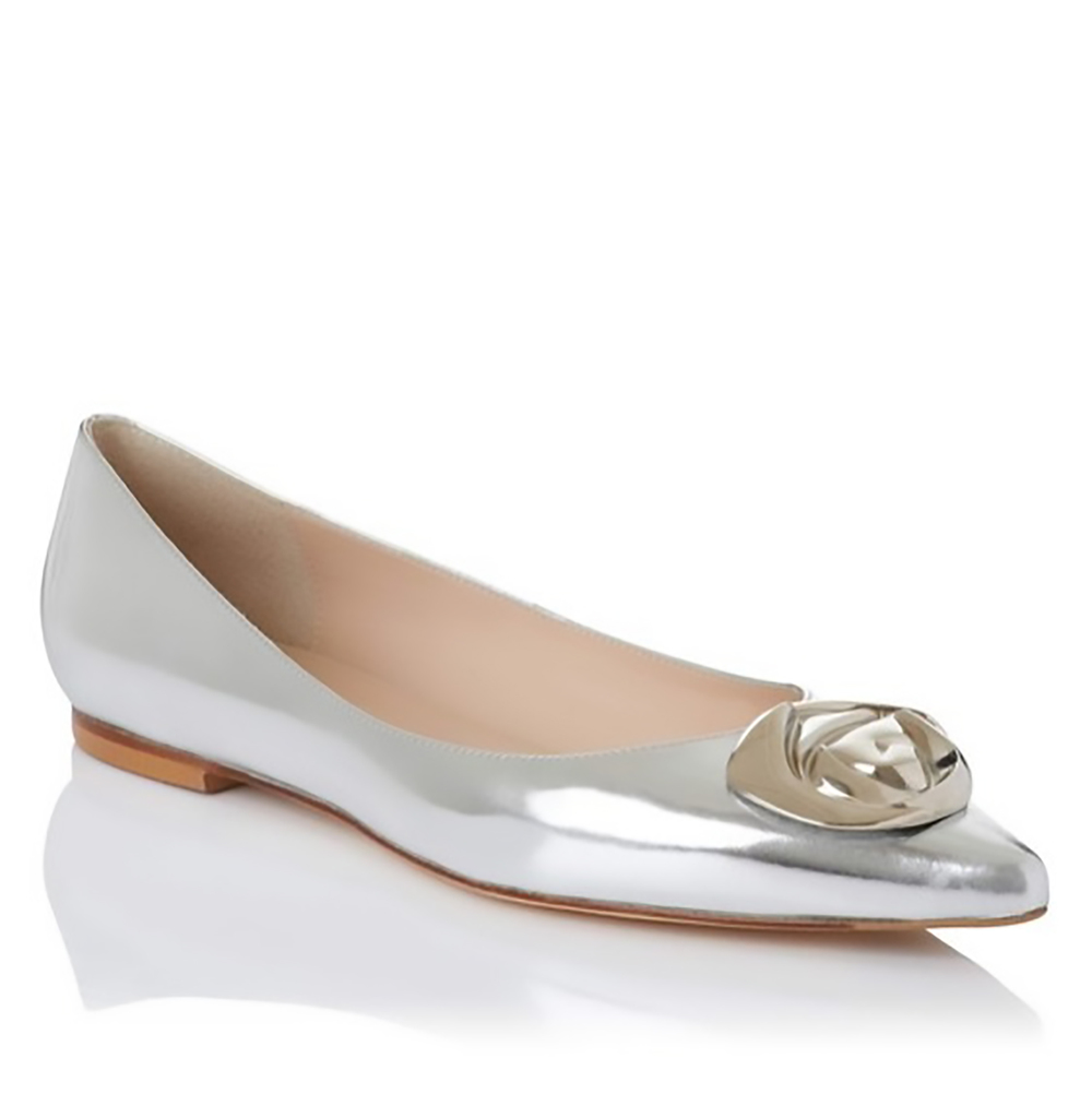 LK Bennet Patsy metallic leather point toe flat pointy toes 1500.jpg