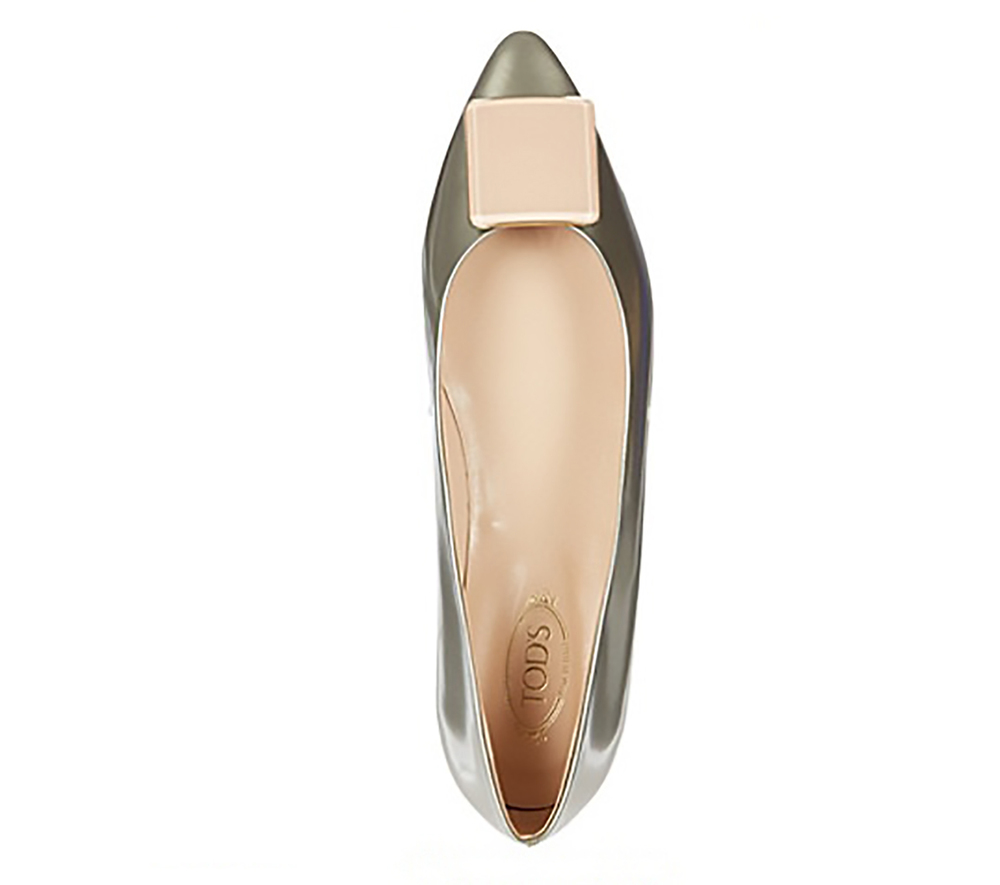 selfridges tods leather metallic pumps pointy toes 1500.jpg