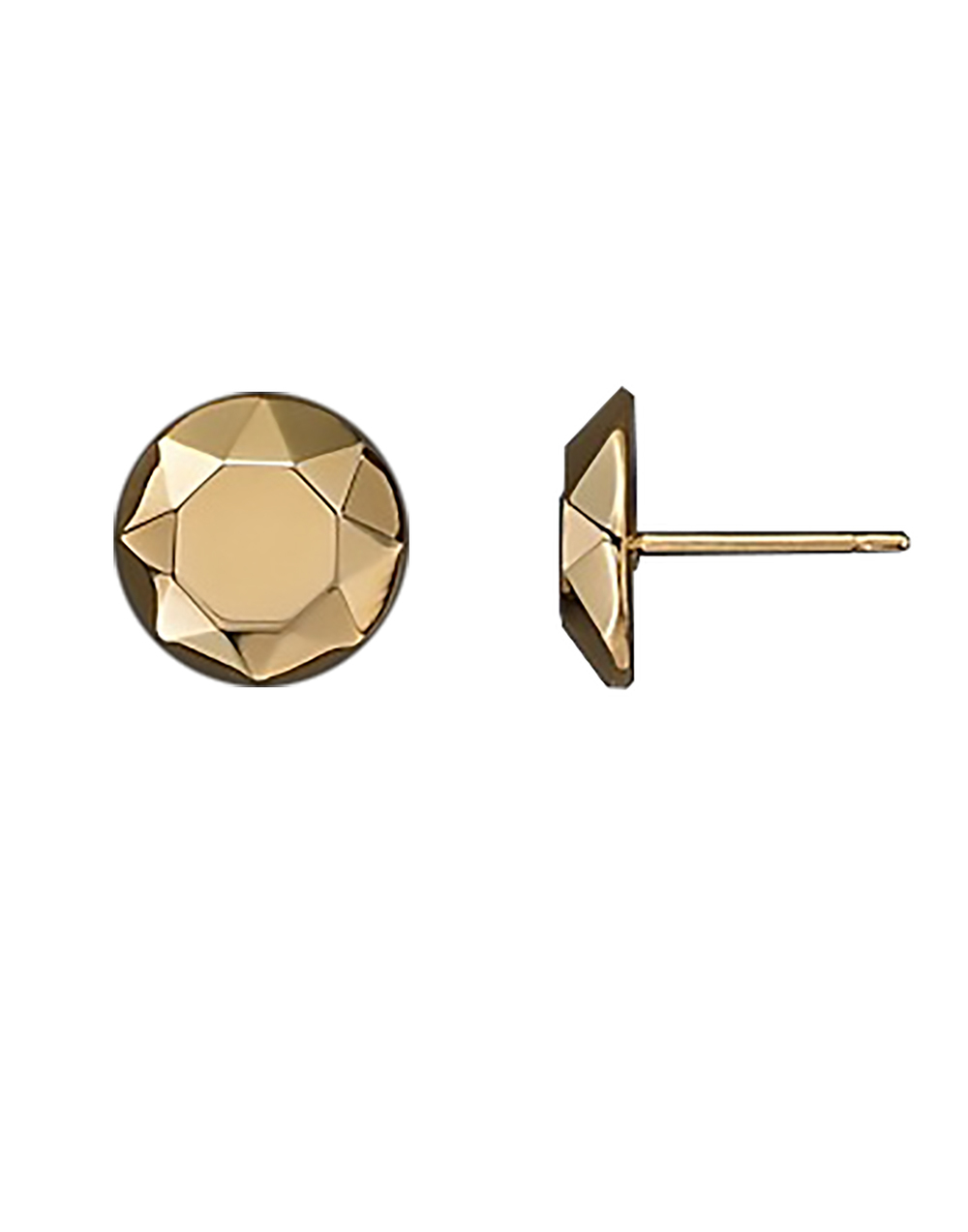 bloomingdales 14k yellow gold faceted dome earrings studs 1500.jpg
