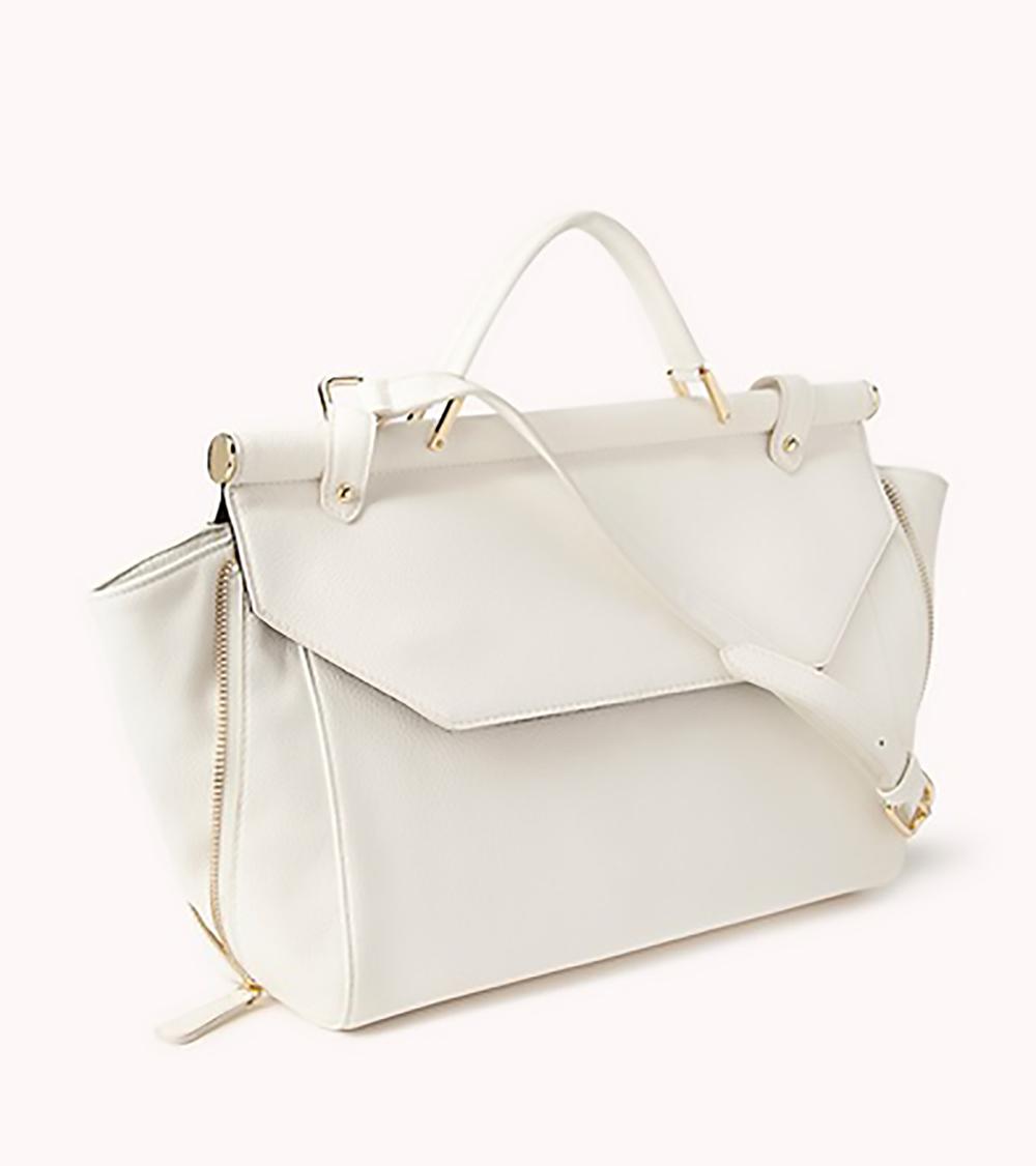 Forever 21 fancy structured carryall white bag 1500.jpg