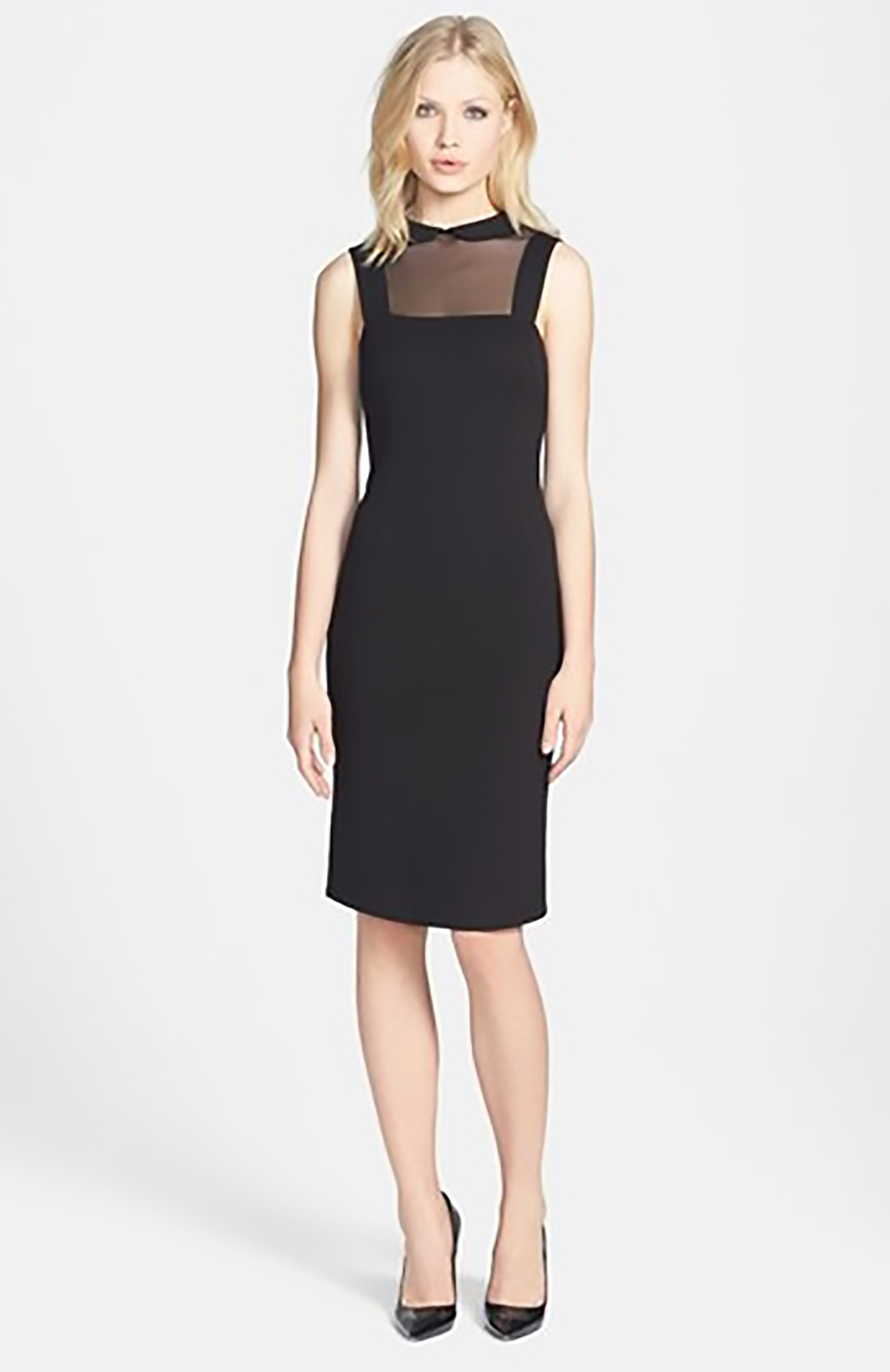 nordstrom BB Dakota Rhyannon sheer yoke ponte sheath dress 1500.jpg