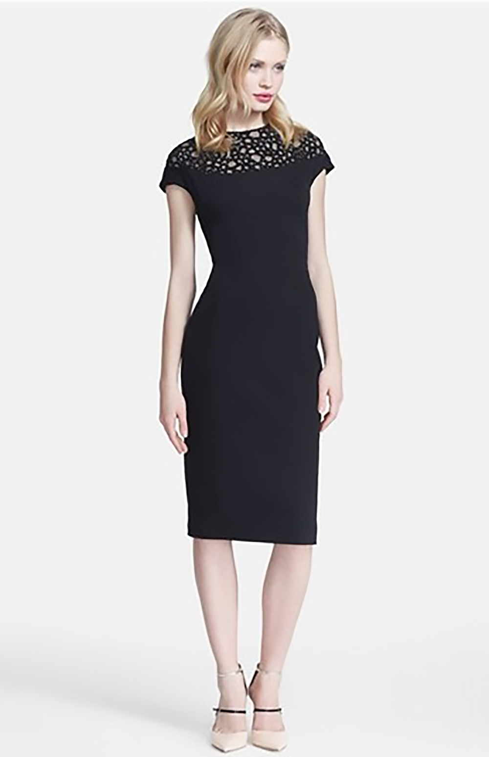 nordstrom lela rose embellished yoke sheath dress 1500.jpg