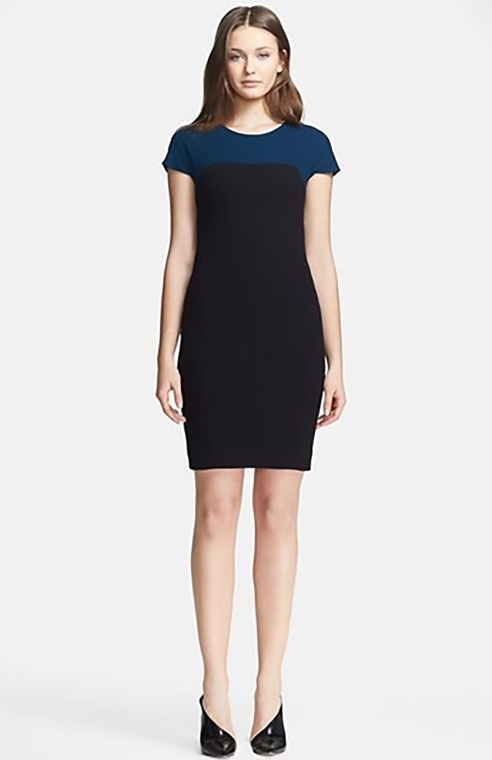 nordstrom narciso rodriguez two tone stretch silk crepe dress sheath dress 1500.jpg