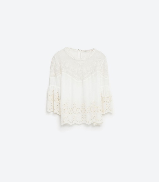 zara uk emrboidered top white with sleeves embroidery May 2016.jpg