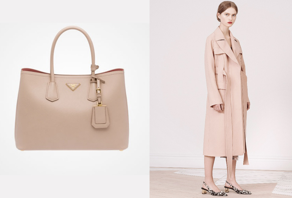 Prada  double bag in blush EUR 2,250                                                            Jason Wu Pre Fall 2016, courtesy  vogue.com