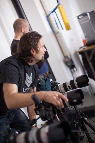 Sista fininställningarna för att få de 3 kamerorna att synka perfekt. Det är alltid, alltid bäst att göra det rätt från början.