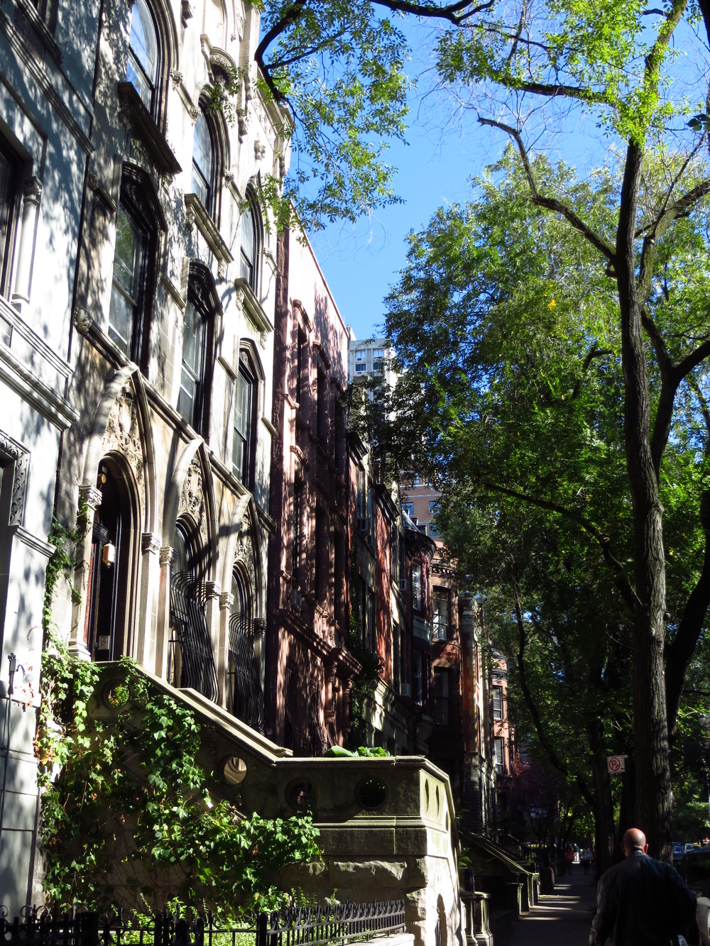 Typical UWS street of brownstones