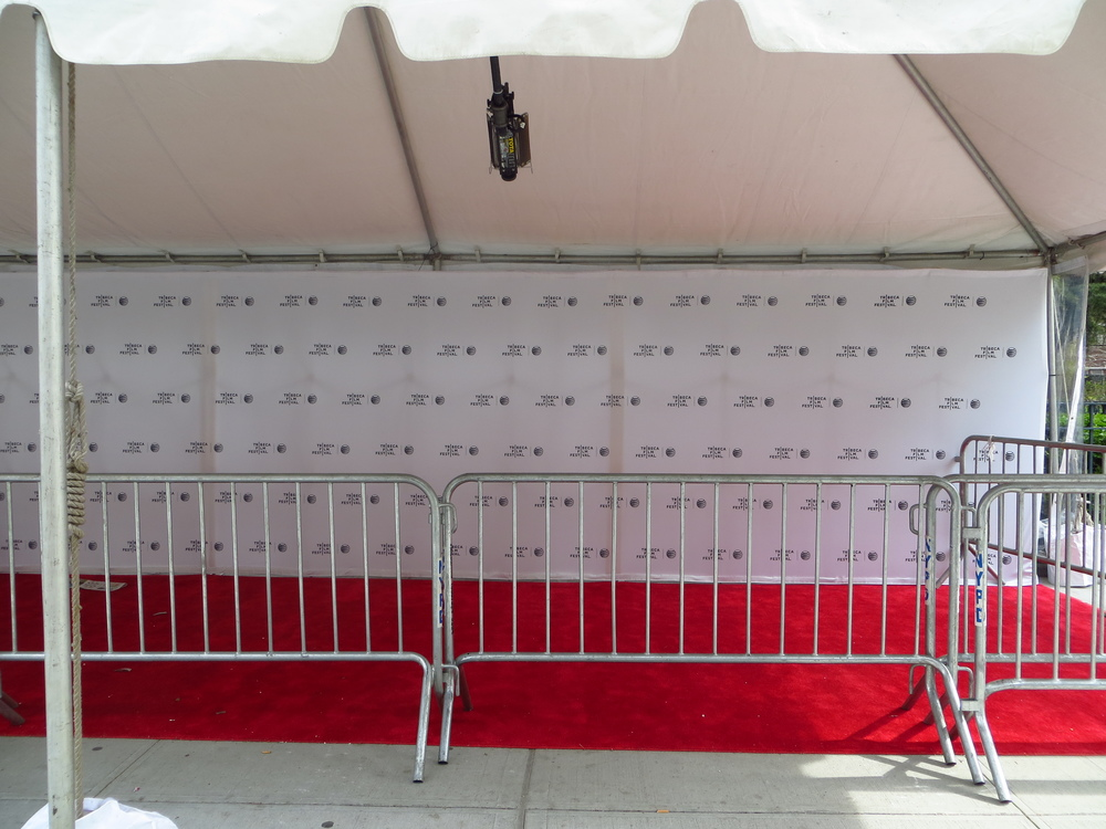 Setting up for Tribeca Film Festival (not in Tribeca though...)