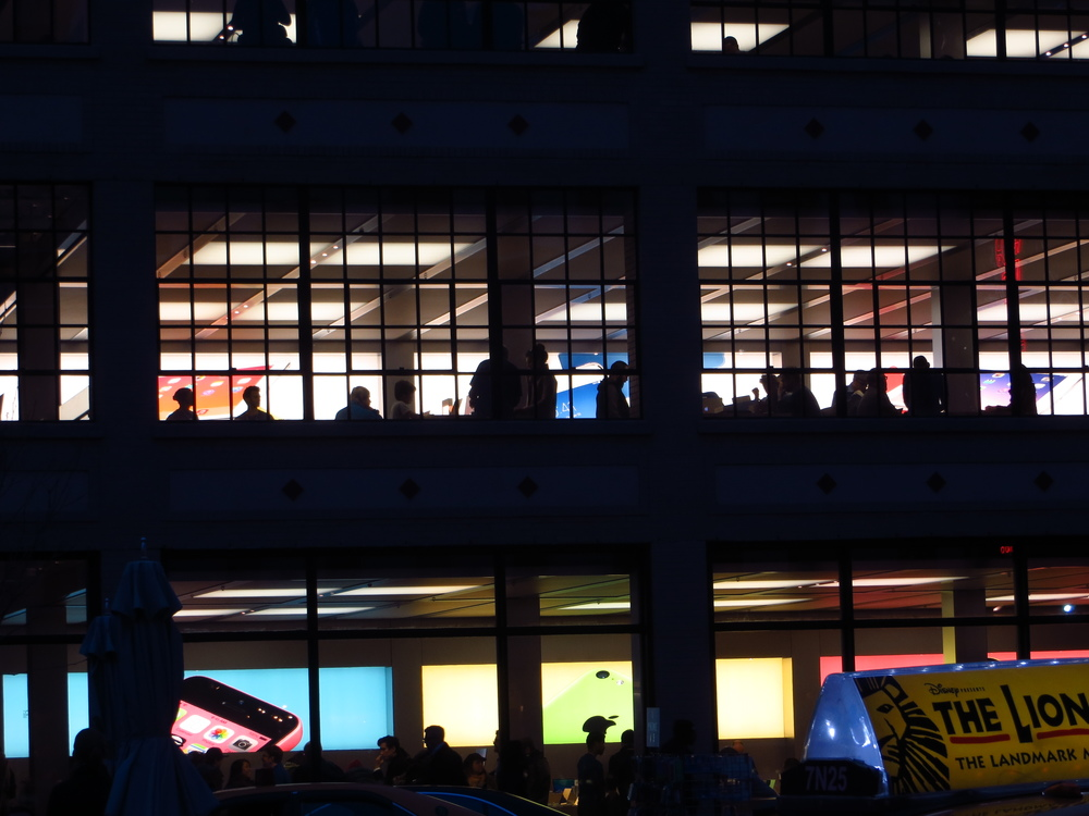 Apple Store after dark