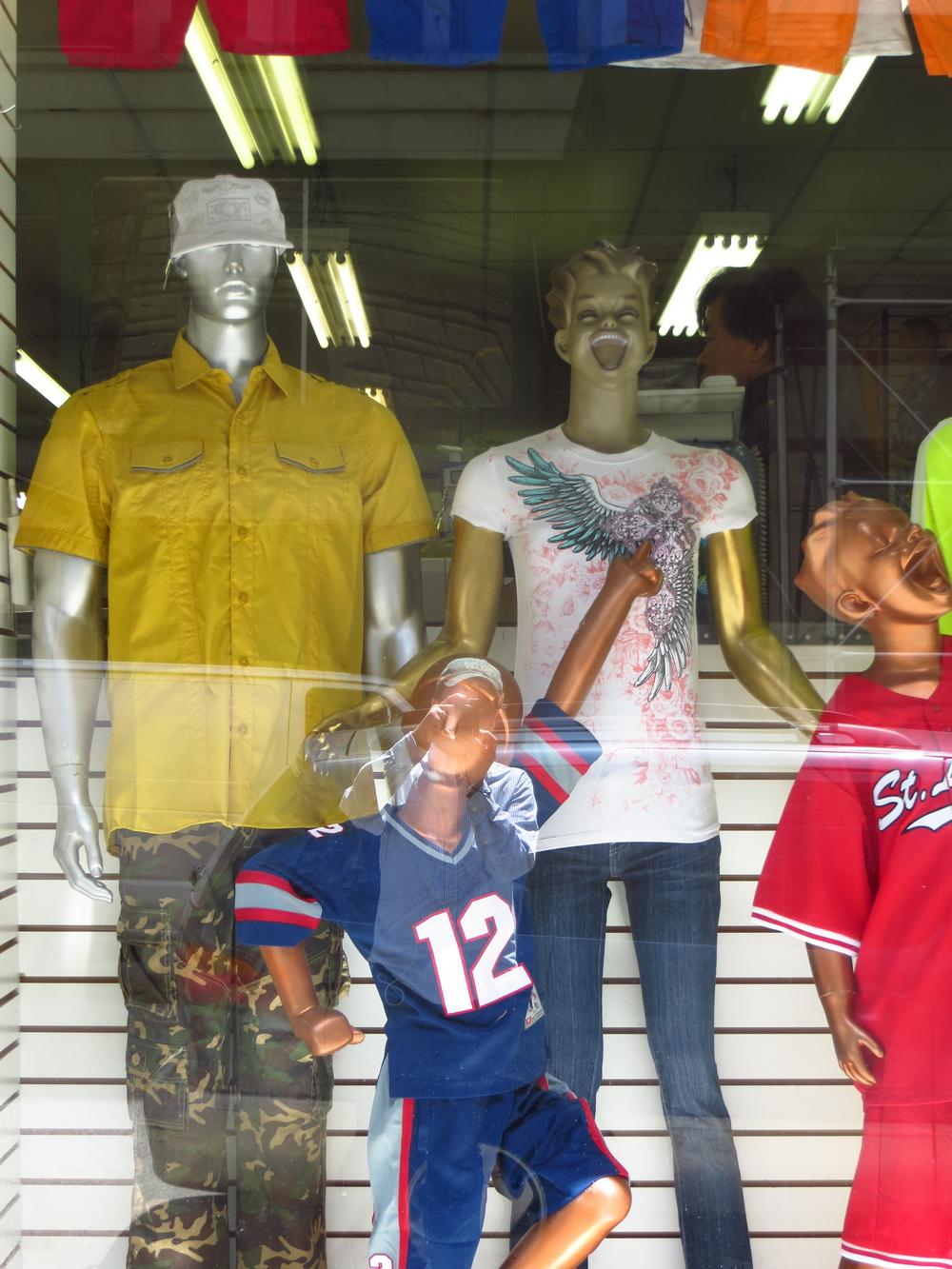 Terrifying mannequins