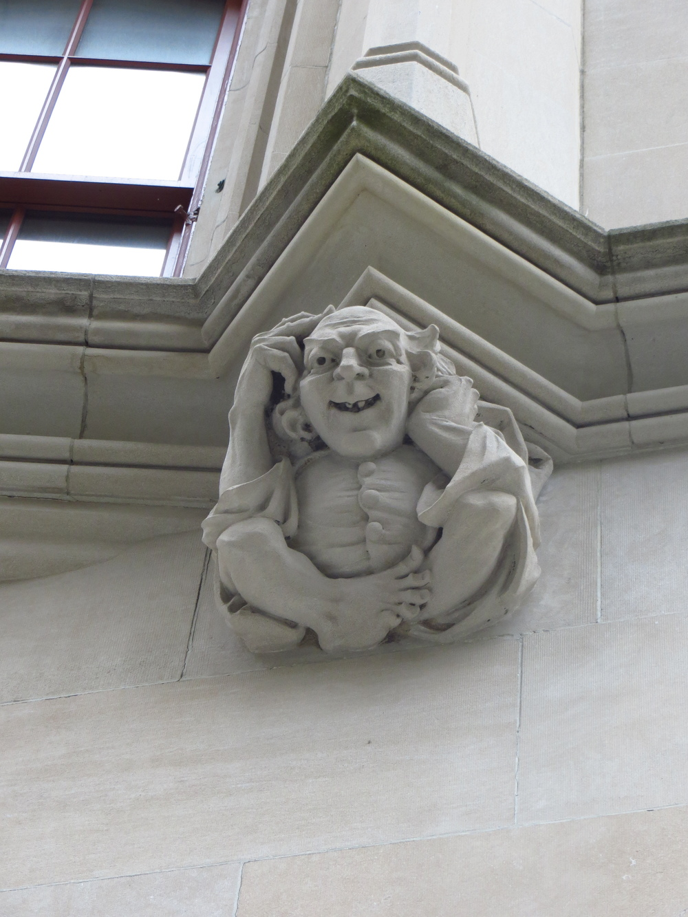 Hunter College gargoyle