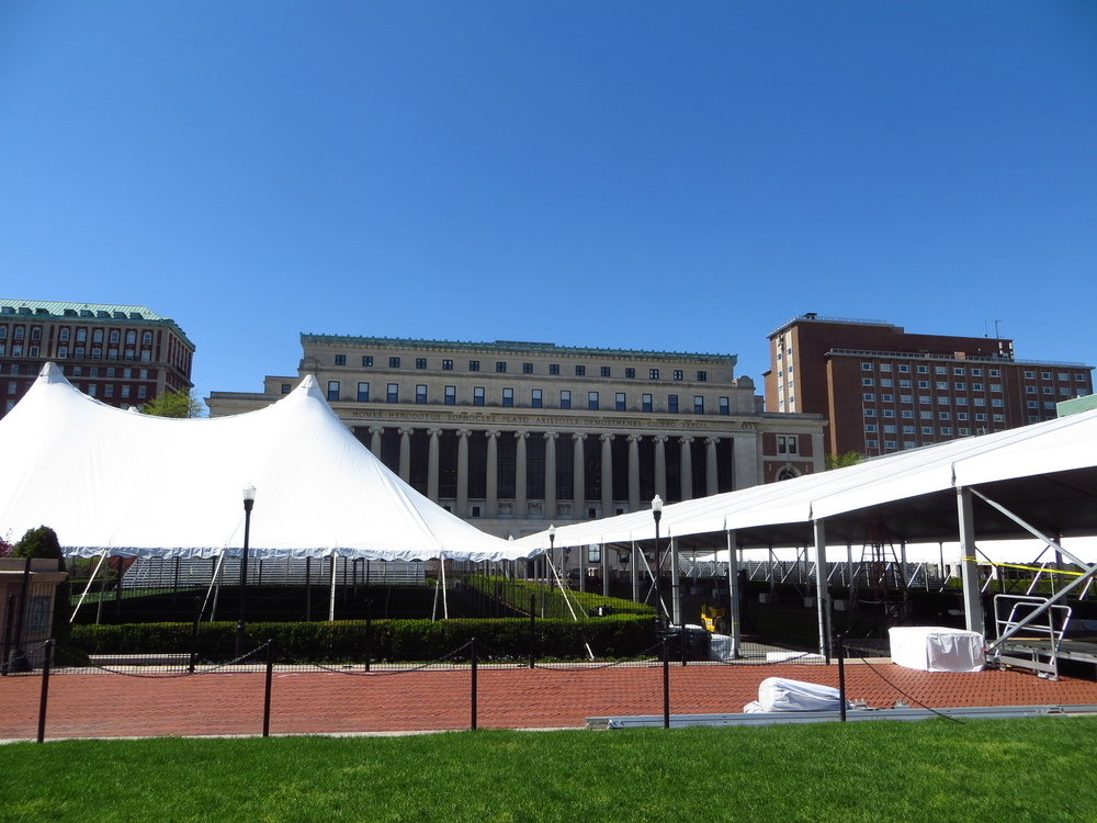 Columbia University (set up for commencement)
