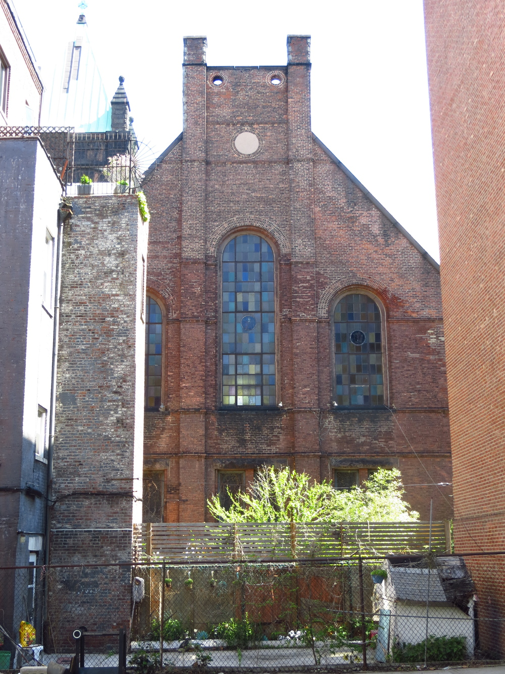 Back of a church