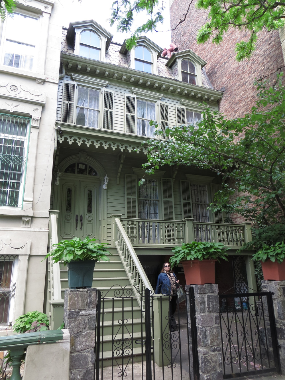 One of the last frame houses in Harlem (b. 1864)