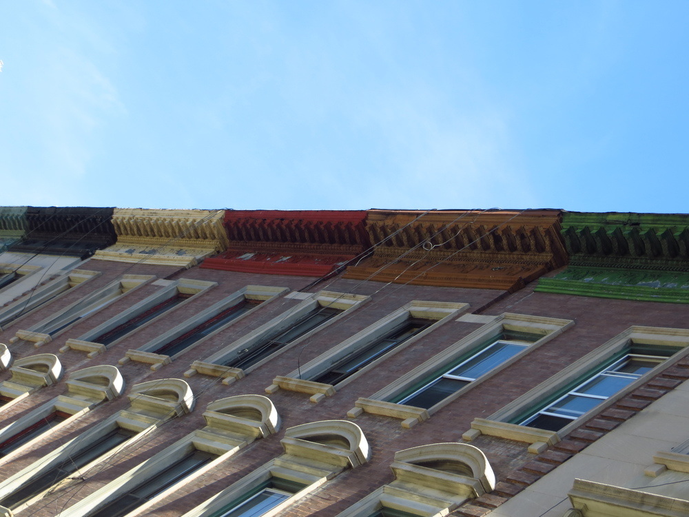 Colorful cornices