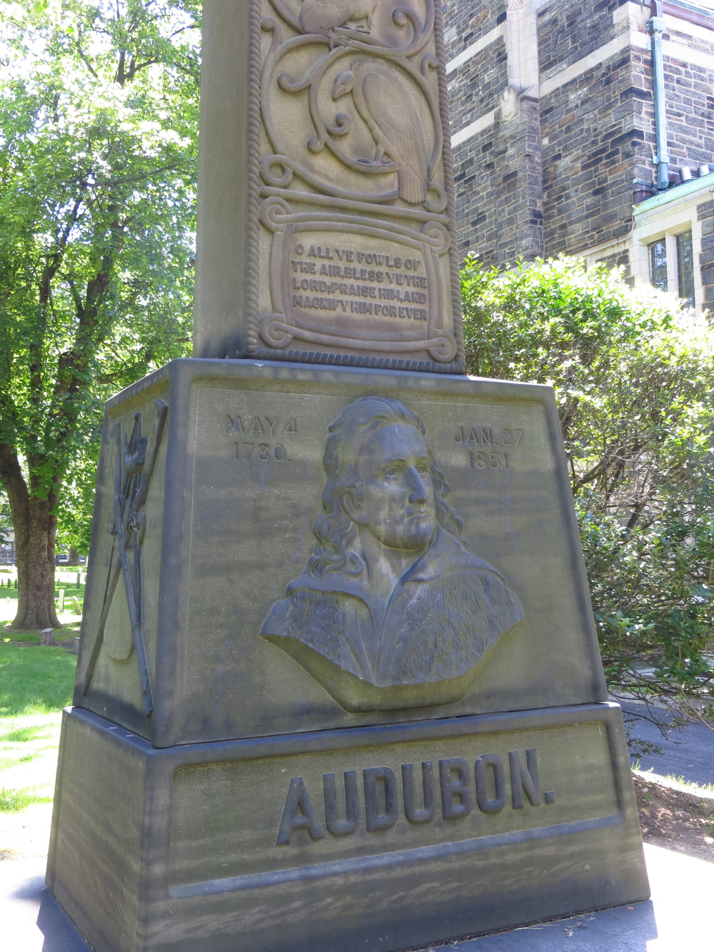 Grave of John James Audubon (somebody had a sense of irony)
