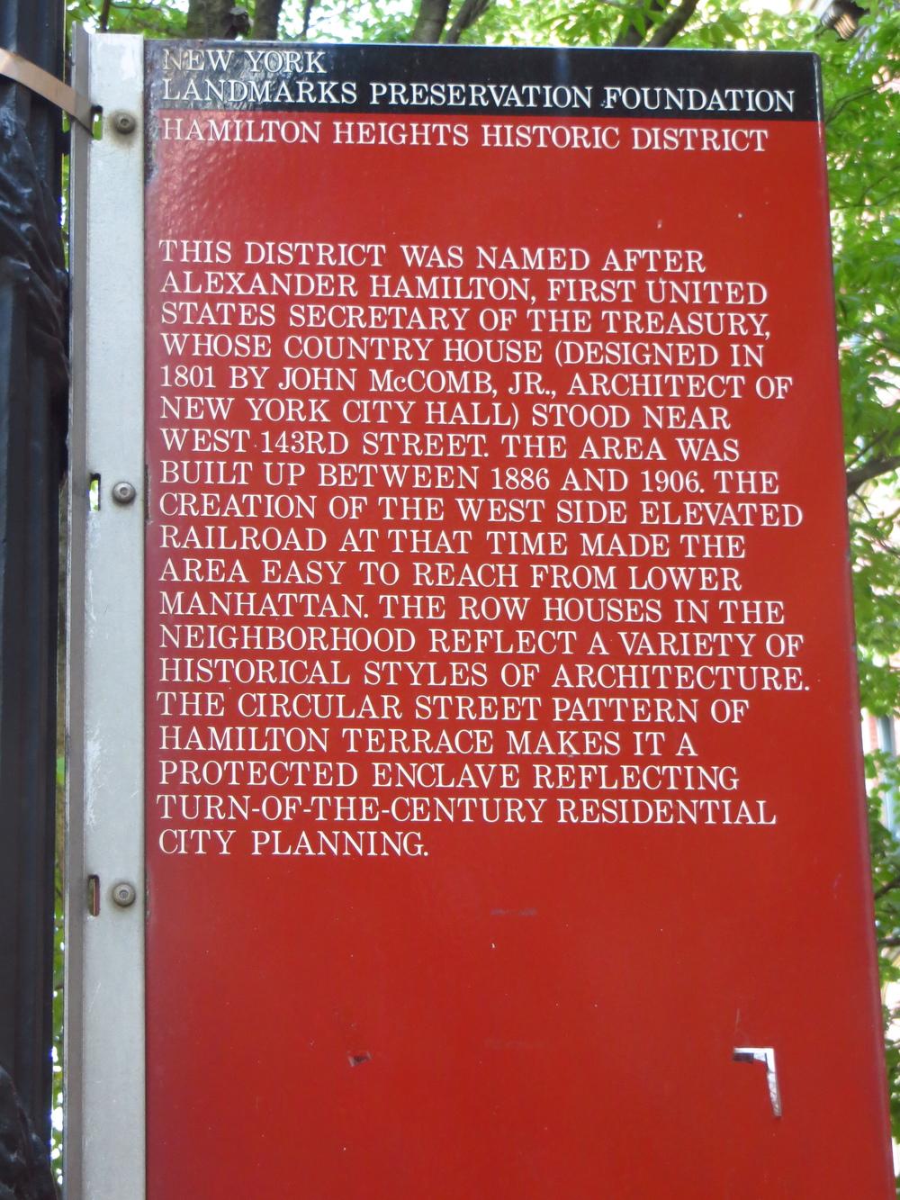 More history of Hamilton Grange