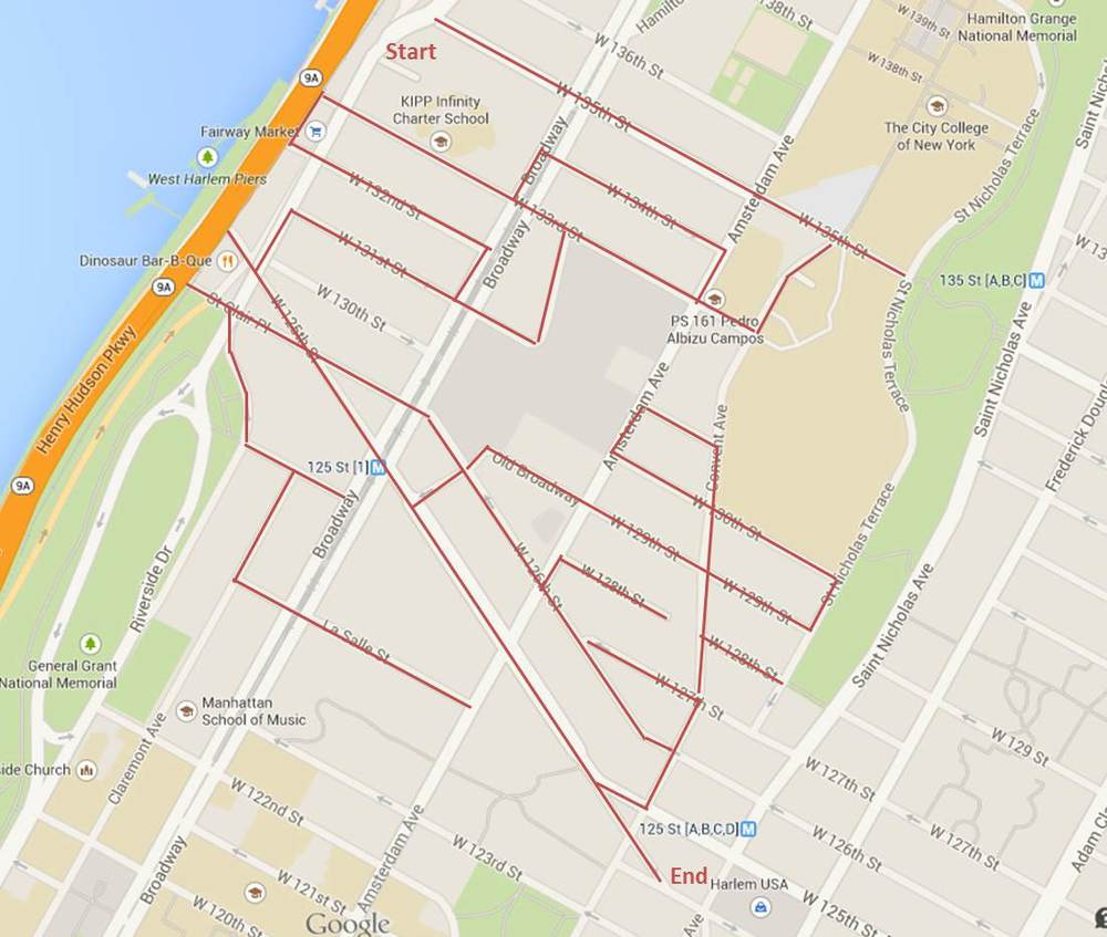 Manhattanville Campus Map.West Harlem Manhattanville Walking Manhattan