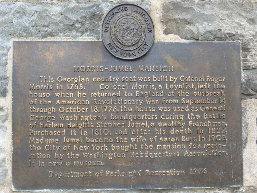 Morris-Jumel Mansion history