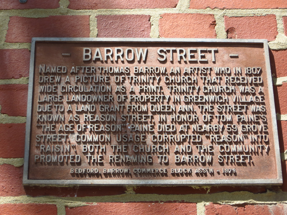 Barrow St. explanation