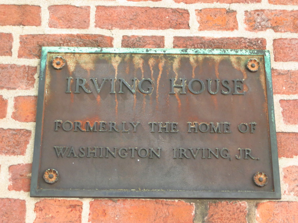 This one's on the right (I don't know about this though - Washington Irving didn't have any kids and his dad's name was William)