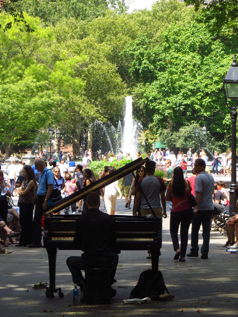 Washington Square Park piano