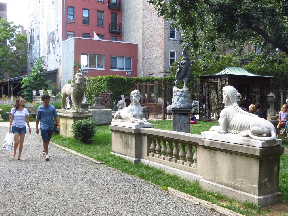 Community statue garden