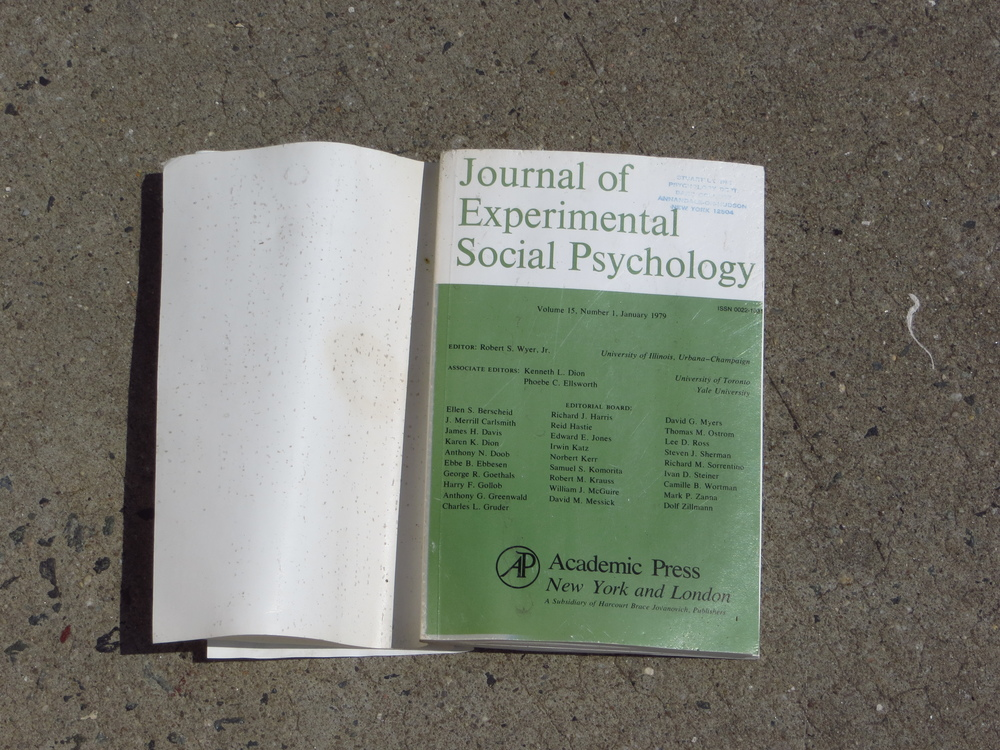 Discarded journal