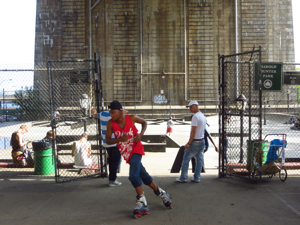 Skate park under Manhattan Bridge