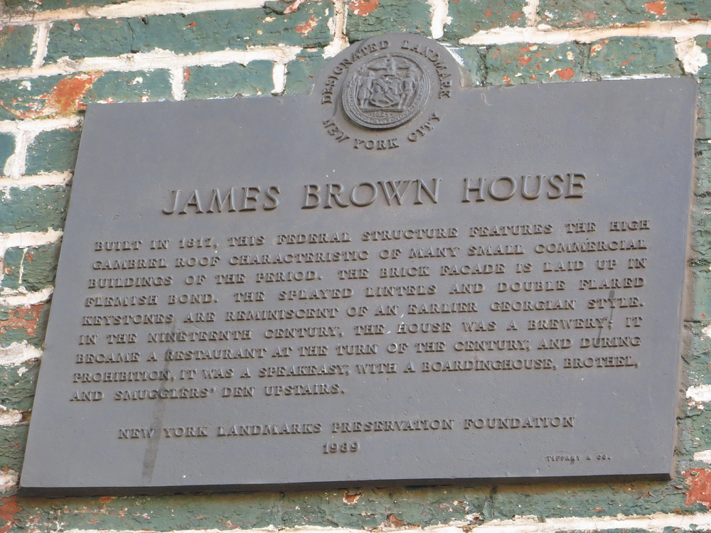 Ear Inn / James Brown House history